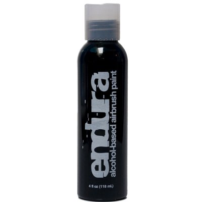 4 oz Black Endura Ink Alcohol Based Airbrush Makeup