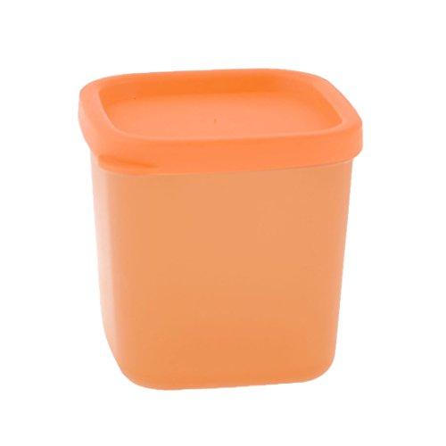"""2.2 """"x 2.2"""" x 2.7 """"Orange Kunststoff Ohrstecker Ringe Halter-Aufbewahrungsbehälter"""