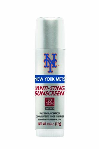 Mlb New York Mets No Sting Sunscreen Facestick Spf 30+, 0.6-Ounce Stick