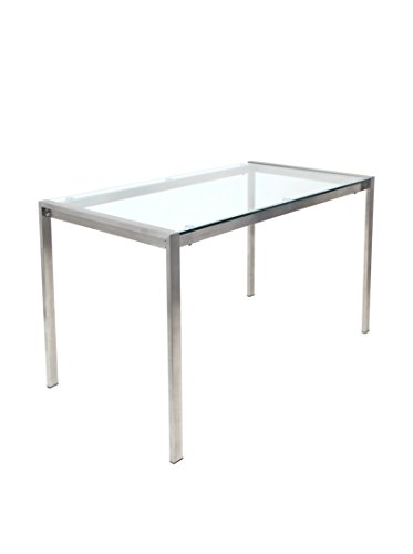Lumisource Fuji Dining Table, Clear