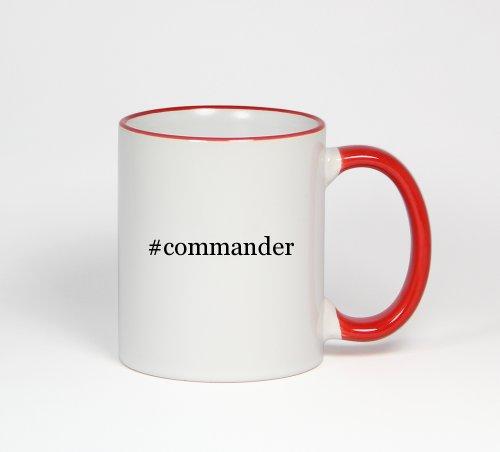 #Commander - Funny Hashtag 11Oz Red Handle Coffee Mug Cup