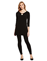 M&S Collection Detachable Bar Trim Tunic