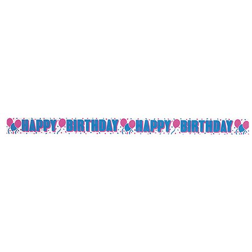 30ft Happy Birthday Crepe Paper Streamers - 1