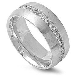 Poseidon Stainless Steel Eternity Ring