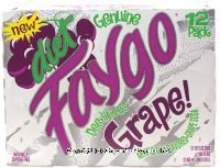 Faygo - DIET Grape Soda - 12 Pack of 12-oz. Cans
