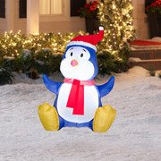 Airblown Baby Penguin 3.5 Ft Christmas Inflatable By Gemmy front-849279