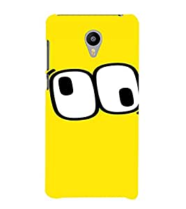 PrintVisa Cartoon Eyes Emotion 3D Hard Polycarbonate Designer Back Case Cover for Meizu M2 Note