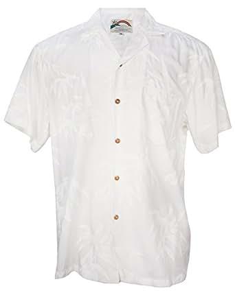 Aloha bamboo men 39 s hawaiian print aloha for Bamboo button down shirts