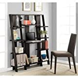 Image Result For High Ladder Bookcase With A Drop Down Desk