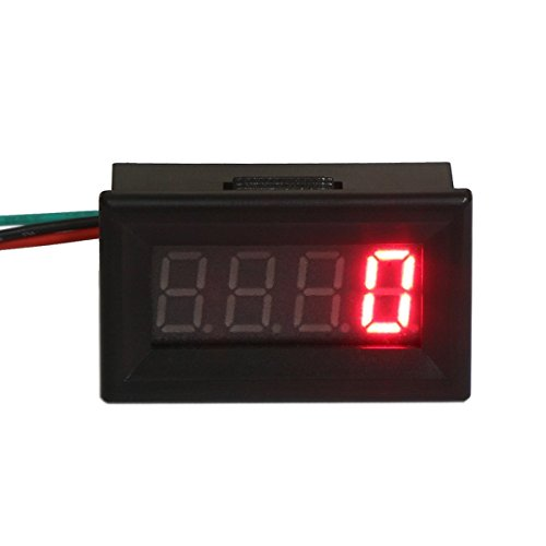 RioRand® Digital Motor LED Tachometer RPM Speed Measure Gauge Meter Tester 60-9999 (Red)