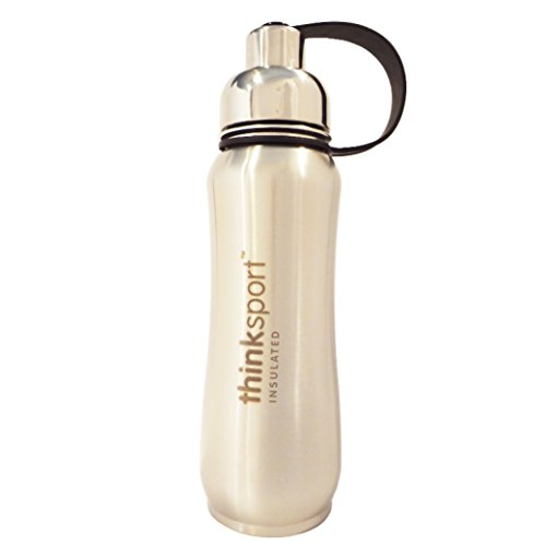 Thinksport Insulated Sports Bottle, Silver, 17-Ounce/500ml