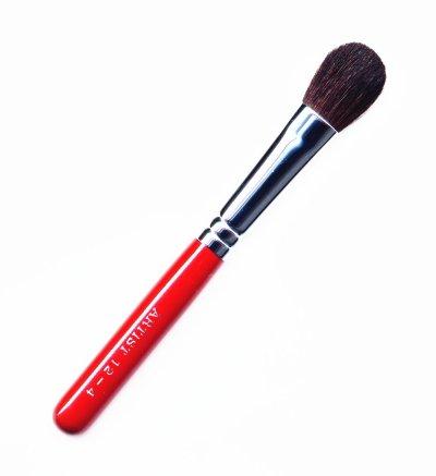 竹宝堂化粧筆 アイシャドウブラシ 12ー4 赤軸 熊野筆