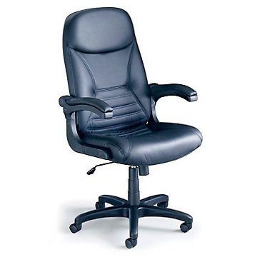 Comfort Pivot Arm Big and Tall Leather Executive Chair Mayline Comfort Flip Arm