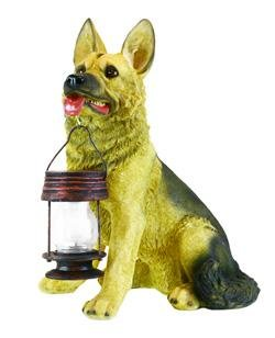 German Shepherd Dog With Lantern Solar Light (Dgs5195)