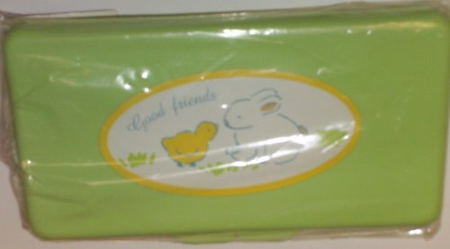 Green Bunny and Chick Baby Wipes Case