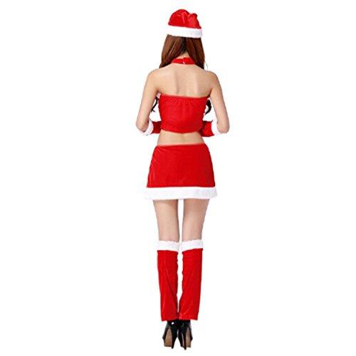 Parti signore di Santa costume delle donne del partito di Natale Fancy Dress Due Cosplay Suit