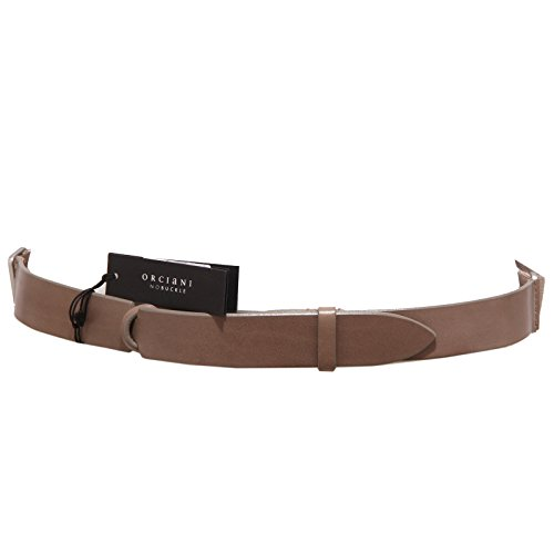 3675Q cintura donna ORCIANI NOBUCKLE tortora regolabile adjustable belt woman [Taglia unica]