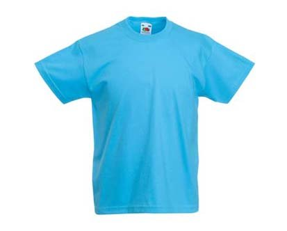 Kinder T-Shirt Valueweight; Blau,140 140,Blau