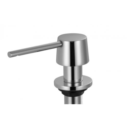 Dispenser per sapone MIZZO in 100% acciaio inox inossidabile, 5 anni di garanzia. Accessorio cromato per lavabo da cucina, distributore di sapone.