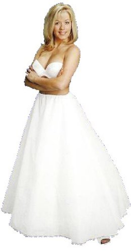 A line full bridal petticoat crinoline wedding slip (CH106DS)