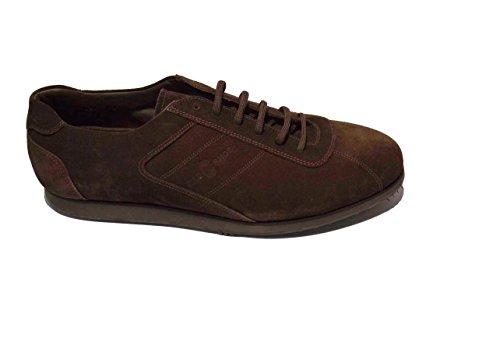 Car Shoe camoscio allacciata marrone KUE334 (45)