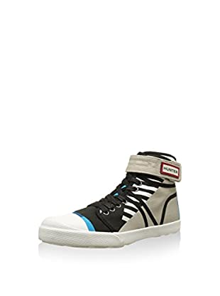 Hunter Zapatillas abotinadas Womens Original Dazzle Hi Top (Negro / Nata)
