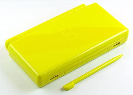 Bright Yellow Nintendo DS Lite Complete Full Housing Shell Case Replacement Repair w/ Hinge Set