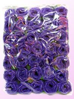 Roses String Light Set (Purple Color) with White Cord for Birthday Party Decorating, Garden Party Decorations or Wedding Lights Product of Thailand