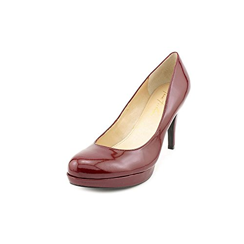 Marc Fisher Women'S Sydney Closed Toe Pumps In Dark Red Size 11