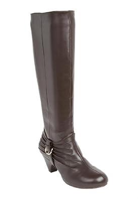 Comfortview Women's Wide Comfortview 'Roxy' Boots Dark Brown,7 W