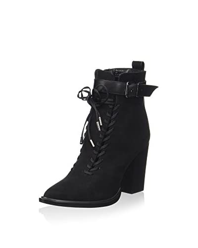 Nasty Gal Stivaletto Stringato Malla-31 Black [Nero]