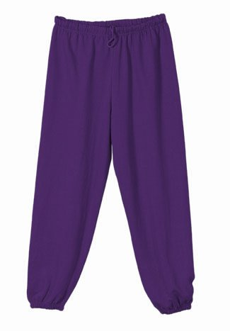 Purple Unisex Sweatpants, Large