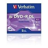Verbatim DVD+R 8.5Gb 8x D/L Pack 5 43541