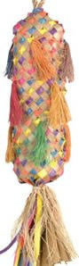 Planet Pleasures Square Pinata Large 16in Natural Bird Toy