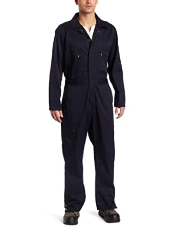 Key Apparel Men's Deluxe Unlined Long Sleeve Coverall, Navy, Small-Short