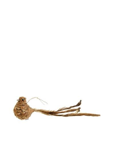 Raz 3 Clip-On Pine Cone Bird Ornament I, Brown
