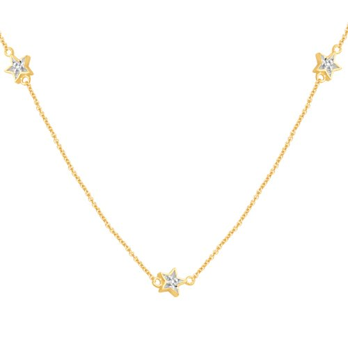 10kYellow Gold Diamond Chain Component Necklace (1/10 cttw, I-J Color, I3 Clarity), 36