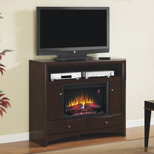 ClassicFlame Delray Electric Fireplace Media Console in Roasted Walnut - 26DE9401-W509 photo B009BYB5CI.jpg