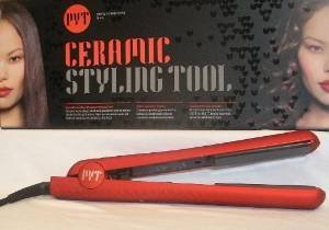 PYT Ceramic Hair Straightener 1.25 Inch - Satin Finish Red (Flat Iron Amika compare prices)
