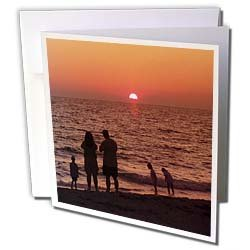 Florene Sunset - Vacation - Greeting Cards-6 Greeting Cards with envelopes