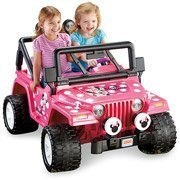Fisher-Price Power Wheels Girls' Disney Minnie Mouse Jeep 12-Volt Battery-Powered