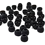 Cosmos ® 20 Pair Replacement Silicone Earbuds ear tips for Sony Koss Phillips Ultimate Ears Griffin AGK Black Color (Medium)