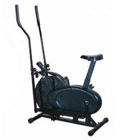 CrystalTec 2 in 1 Exercise Bike & Cross Trainer
