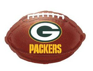 "Anagram International Green Bay Packers Flat Party Balloons, 18"", Multicolor"