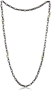 """Paige Noivck """"Wyoming"""" Gunmetal Link and Contrasting Rondelle Necklace"""
