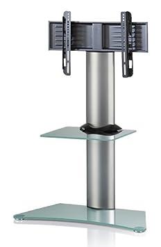 """VCM 17045 TV-Standfuss """"'Findal"""", TV-Rack Aus Aluminium mit Zwischenablage"""