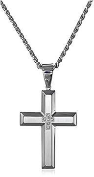 Men's Diamond Accent Stainless Steel…