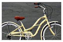 Anti-Rust Aluminum frame, Fito Brisa Alloy 7-speed - Vanilla w/ silver rims, women's 26