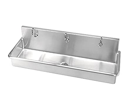 Just J-6020-3S-1H Three Station 14ga T-304 Stainless Steel Surgeons Wash Up Sink