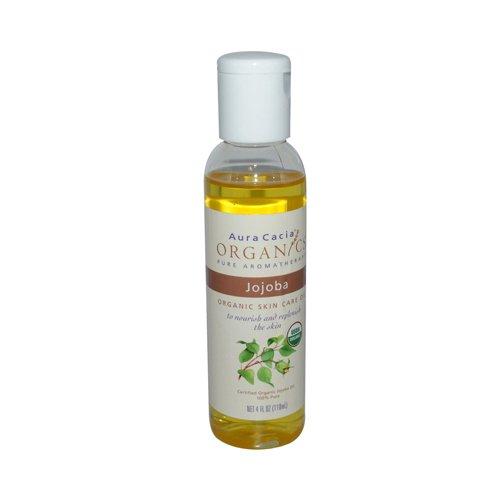 New - Aura Cacia Organic Aromatherapy Jojoba Oil - 4 Fl Oz